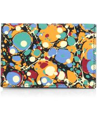 Victoria Beckham Abstract Print Card Holder - Multicolor