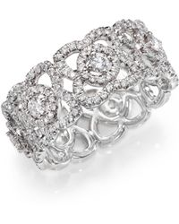 De Beers - Enchanted Lotus Diamond & 18k White Gold Band Ring - Lyst