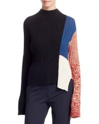 CALVIN KLEIN 205W39NYC - Abstract Melange Knit Top - Lyst