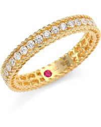 Roberto Coin - Symphony Braided Diamond & 18k Yellow Gold Band Ring - Lyst