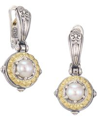 Konstantino - 18k Yellow Gold & Pearl Earrings - Lyst