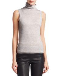 8d2df7cee3ecc2 Lyst - Akris Cashmere   Silk Shredded Turtleneck Shell in Black
