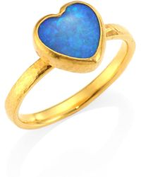 Gurhan - Amulet Hue Opal & 22-24k Yellow Gold Heart Ring - Lyst