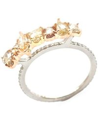 Sharon Khazzam Saff 18k Two-tone Gold, Platinum & Two-tone Diamond Ring - Yellow