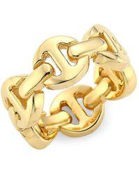 Hoorsenbuhs Heritage Brute Classic Tri-link 18k Yellow Gold Ring - Metallic