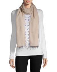 Bajra - Wool & Silk Tassel Trim Scarf - Lyst