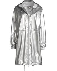 Rains Long Rain Jacket - Metallic