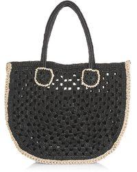 Carrie Forbes Jenna Synthetic Raffia Handbag - Black