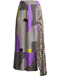 Beatrice B. - Women's Printed Pleated Skirt - Lilac - Lyst