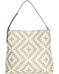 Eric Javits Squishee Up Woven Tote Bag - Natural