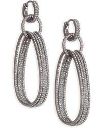 Adriana Orsini Holiday Ear Huggie Drop Earrings - Metallic