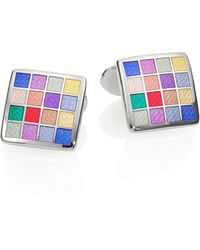 David Donahue - Multicolored Checkered Cuff Links - Lyst