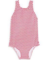 Shoshanna - Little Girl's & Girl's One-piece Polka Dot Back Bow Swimsuit - Lyst