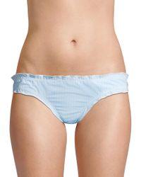 Shoshanna - Maya Ruffle Bikini Bottom - Lyst