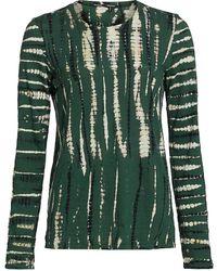 Proenza Schouler Tie-dye Long Sleeve Cotton T-shirt - Green