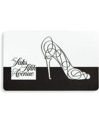 Saks Fifth Avenue - 10022-shoe Gift Card - Lyst