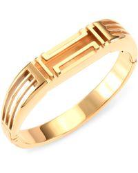 Tory Burch - X Fitbit Goldtone Metallic Bangle - Lyst