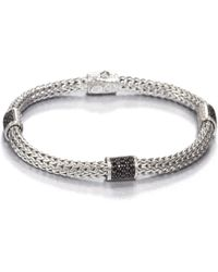 John Hardy - Classic Chain Black Sapphire & Sterling Silver Four-station Bracelet - Lyst
