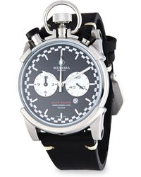 CT Scuderia Corsa Café Racer Stainless Steel & Leather Strap Watch - Black