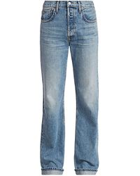 RE/DONE 90s High-rise Relaxed Cuffed Straight-leg Jeans - Blue