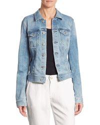 AG Jeans Robyn Denim Light Wash Jacket - Blue
