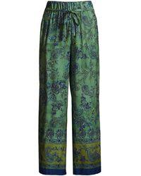 Seventy Paisley Straight-leg Pants - Green