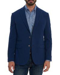Robert Graham Solid Seersucker Jacket - Blue