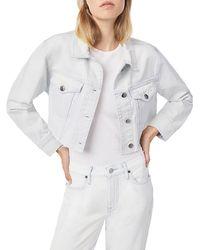 FRAME Ultra Crop Denim Jacket - Multicolor