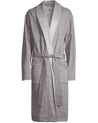 UGG Heritage Comfort Robinson Double-knit Robe - Gray