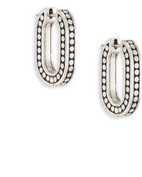 John Hardy | Dot Small Sterling Silk Link Hoop Earrings/0.75 | Lyst