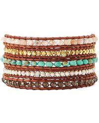 Chan Luu Beaded Cuff Bracelet - Metallic