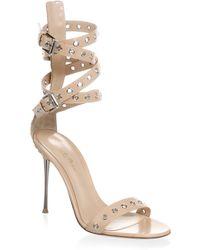 Gianvito Rossi - Grommet Leather Strap Sandal - Lyst
