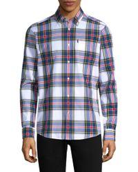 Barbour - Oscar Tailored-fit Cotton Button-down Shirt - Lyst