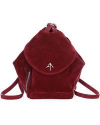 MANU Atelier - Women's Mini Fernweh Suede Backpack - Burgundy - Lyst