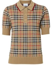 Burberry Archive Check Merino Wool Sweater - Natural