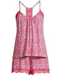 In Bloom Isla Printed Cami Pajama Set - Pink