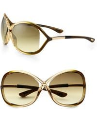 Tom Ford Whitney 64mm Oversized Oval Sunglasses - Metallic