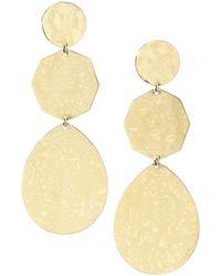 Ippolita - Classico 18k Yellow Gold Crinkle Snowman Drop Earrings - Lyst