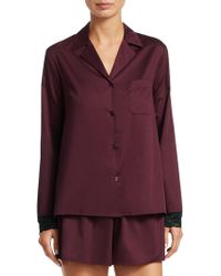 Saks Fifth Avenue - Collection Two-piece Lace-trimmed Pajama Set - Lyst