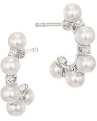 Mikimoto Petite Pearl Hoop Earrings - Multicolor