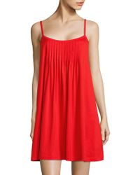 Hanro - Juliet Cotton Pleated Babydoll Gown - Lyst