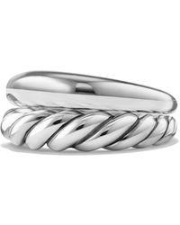 David Yurman - Pure Form Rings/set Of 2 - Lyst