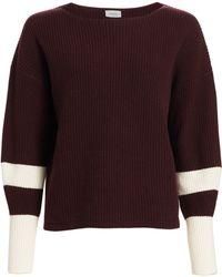 Akris Punto Cashmere Varsity-striped Sweater - Purple