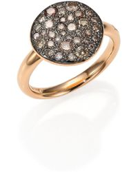 Pomellato | Sabbia Brown Diamond & 18k Rose Gold Ring | Lyst