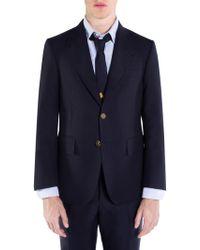 Thom Browne - Wide Lapel Fresco Wool Jacket - Lyst