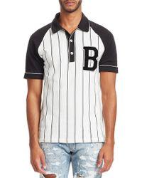 Balmain - Baseball Polo Tee - Lyst