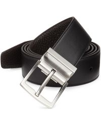 Emporio Armani - Tongue Leather Belt - Lyst