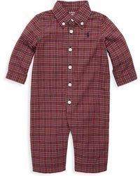 Ralph Lauren - Baby Girl's Polo Bear Footed Coverall - Lyst