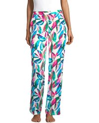 Onia - Mila Tropical-print Trousers - Lyst
