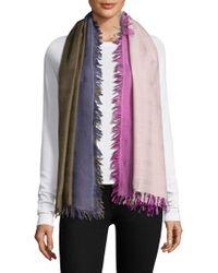 Bajra - Checkerboard Wool & Silk Scarf - Lyst